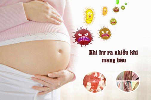 Khí hư ra nhiều khi mang thai